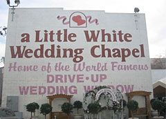 A Little White Wedding Chapel i Las Vegas.